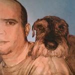 Portrait de commande huile sur toile