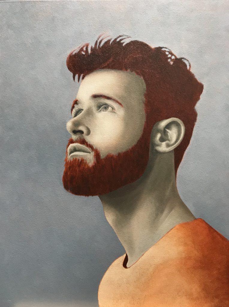 louis derungs portrait huile